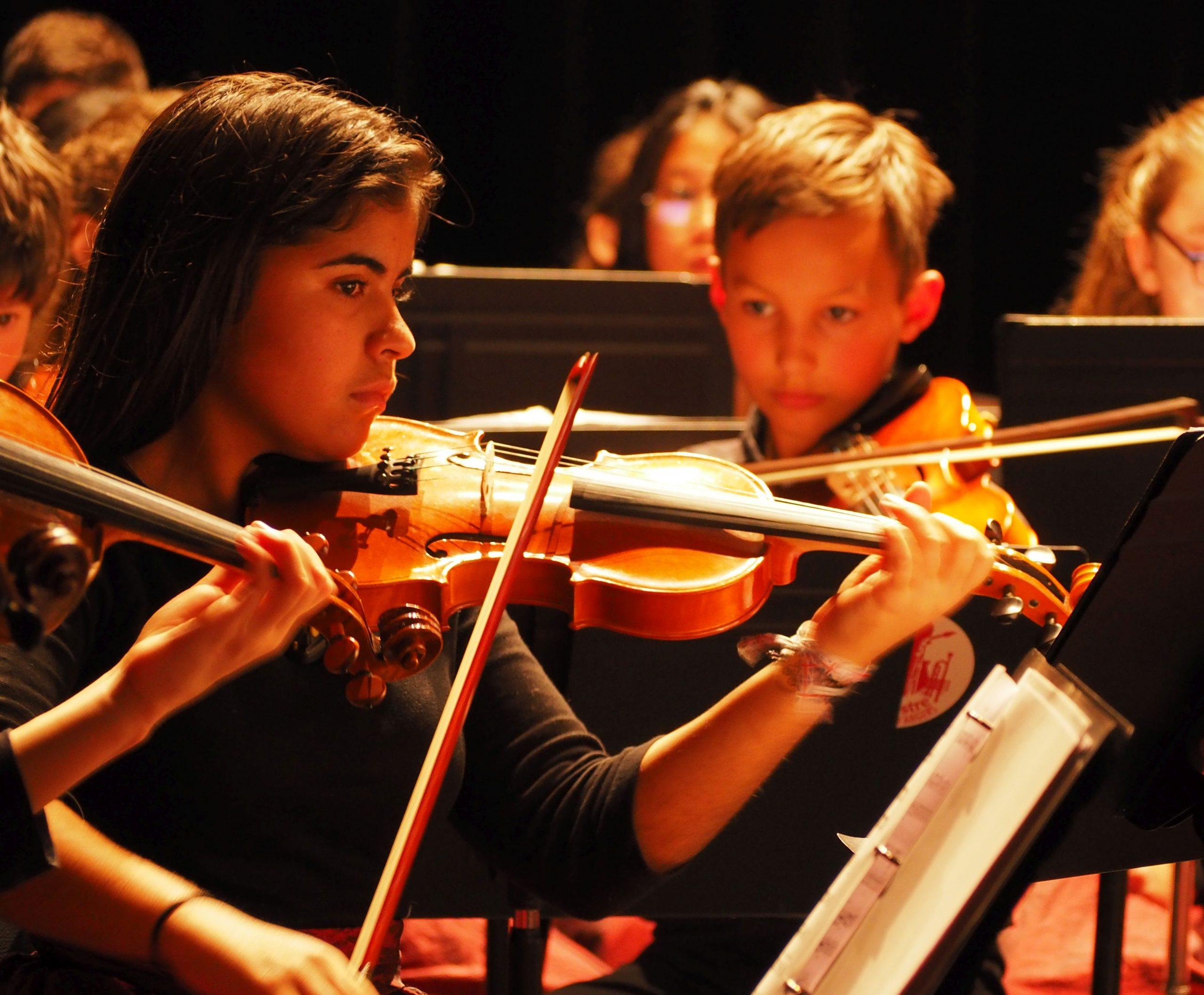 violoniste en concert à l'olda